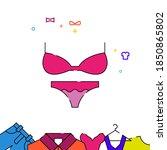 bra and panties filled line...