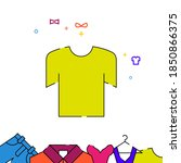 T Shirt Filled Line Vector Icon ...