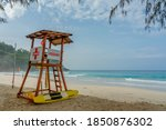 Life Guard Tower On The Beach...