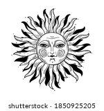 vintage style illustration  sun ... | Shutterstock .eps vector #1850925205