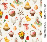 seamless easter pattern. vector  | Shutterstock .eps vector #185094842