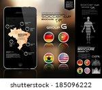 soccer cup brochure group g | Shutterstock .eps vector #185096222