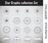 star graphic collection. vector ...   Shutterstock .eps vector #185097362
