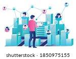 flat design concept  many... | Shutterstock .eps vector #1850975155