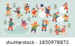winter season background kids... | Shutterstock .eps vector #1850978872