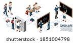 isometric school infographics... | Shutterstock .eps vector #1851004798