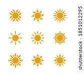 set of sun icons symbol vector...   Shutterstock .eps vector #1851012295