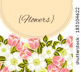 abstract flower background with ... | Shutterstock .eps vector #185104622