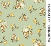 seamless flower pattern  on... | Shutterstock .eps vector #1851048058