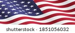 waving american flag vector...   Shutterstock .eps vector #1851056032
