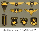 military badge  army patch and... | Shutterstock .eps vector #1851077482