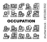 female occupation collection... | Shutterstock .eps vector #1851081502