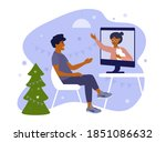 young man and his elderly...   Shutterstock .eps vector #1851086632