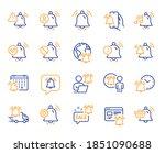 notification line icons. alarm... | Shutterstock .eps vector #1851090688