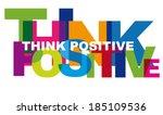 optimism is a mental attitude... | Shutterstock . vector #185109536