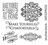 wall art decoration messages    Shutterstock .eps vector #185109632