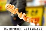 snack tornado potatoes are... | Shutterstock . vector #1851101638