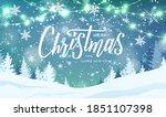 merry christmas hand lettering... | Shutterstock .eps vector #1851107398