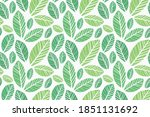 leaves pattern   endless... | Shutterstock .eps vector #1851131692