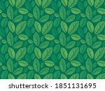 leaves pattern   endless... | Shutterstock .eps vector #1851131695