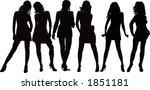 posing girls   vector... | Shutterstock .eps vector #1851181