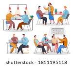 set of office staff. woman...   Shutterstock .eps vector #1851195118