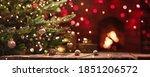christmas tree with decorations ... | Shutterstock . vector #1851206572