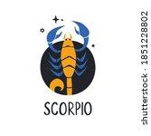 scorpio zodiac sign. bright...   Shutterstock .eps vector #1851228802