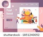 fast food website template  web ...   Shutterstock . vector #1851240052