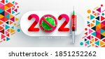 2021 happy new year poster and... | Shutterstock .eps vector #1851252262