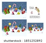 find 7 differences. educational ... | Shutterstock . vector #1851252892