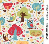 cute seamless background with...   Shutterstock .eps vector #185126018