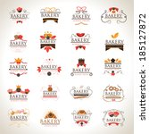 bakery icons set   isolated on... | Shutterstock .eps vector #185127872