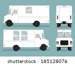 illustrated food truck graphic... | Shutterstock .eps vector #185128076