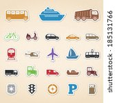 transport icons | Shutterstock . vector #185131766
