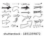 doodle design elements. hand... | Shutterstock .eps vector #1851359872