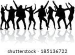 party people | Shutterstock .eps vector #185136722