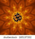 lotus om design background | Shutterstock . vector #185137202