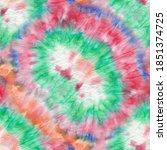 tie dye texture repeat. ethnic... | Shutterstock . vector #1851374725