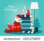 cute winter holiday... | Shutterstock .eps vector #1851378895