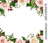 vector christmas background... | Shutterstock .eps vector #1851403675