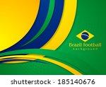 bright wavy background in... | Shutterstock .eps vector #185140676