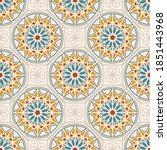 seamless pattern in oriental... | Shutterstock .eps vector #1851443968