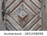 Detail Of A Wooden Barn Door...