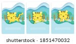 baby shower cards with... | Shutterstock .eps vector #1851470032