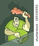 cartoon illustration of a troll ... | Shutterstock .eps vector #185150552