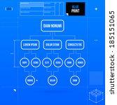 organization chart template in... | Shutterstock .eps vector #185151065