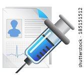 medical record   illustration   Shutterstock .eps vector #185151512