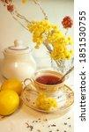 Tea Still Life With Yellow...
