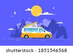 the van is parked in a... | Shutterstock .eps vector #1851546568